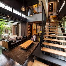 style home design industrial and modern side by side two houses in bangkok