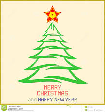 christmas message with tree stock vector image 43446435