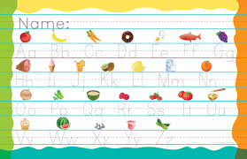 practice alphabet alphabet placemat with printing practice chelsey design