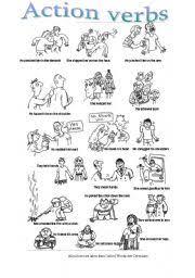 worksheet action body verbs