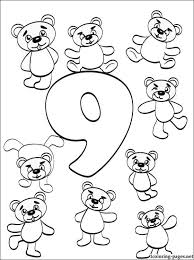 preschool coloring pages with numbers number 9 nine coloring page coloring pages