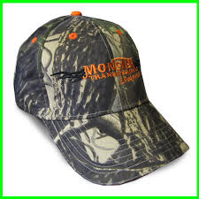 Ford Camo Trucker Hat - monster transmission structured velcro closure white checkerd