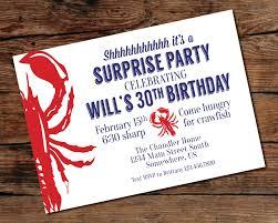 printable surprise party crawfish boil invitation digital
