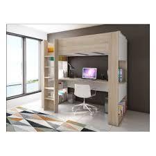 lit superposé avec bureau pas cher lit mezzanine avec bureau pas cher ou d occasion sur priceminister