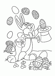 easter bunny illusionist coloring page for kids holiday coloring