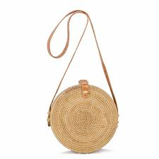 new bohemian straw bags for women small circle beach handbags