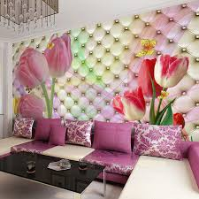 3d Wallpaper For Bedroom by Custom Large Mural Wallpaper 3d Stereo Soft Case Romantic Tulip Tv