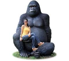 fibreglass gorilla silverback
