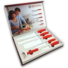 6 pieces knife set herzog premium kitchenware