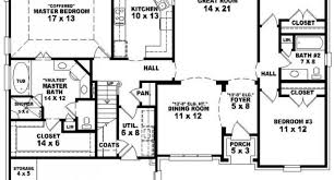 4 Bedroom 2 Bath House Plans 3 Bedroom 2 Bathroom House Design 3 Bedroom 3 Bath House Plans
