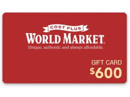 cost plus world market gift card sweepstakes