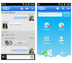 skype android app skype android app gets updated with media grabi