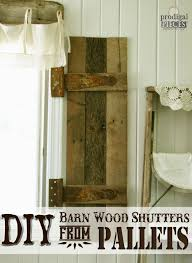 Home Decor Made From Pallets Diy Barn Wood Shutters From Pallets Prodigal Pieces