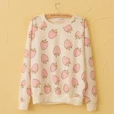 strawberry sweater harajuku strawberry pineapple sweatshirts harajuku fashion