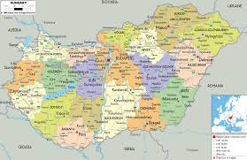 Slovakia Map Hungary Political Map Administrative Map Of Hungary Hungary