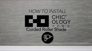 how to install chicology corded roller shades youtube