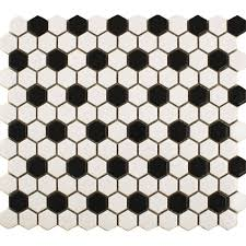 Small Black And White Tile Bathroom Small Black And White Bathroom Tile 50s Google Search Home