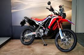 honda crf250 rally makes appearance at the osaka motorcycle show