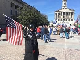 Nashville Flag Pro Trump Rally In Nashville Draws Hundreds Including Noisy Anti