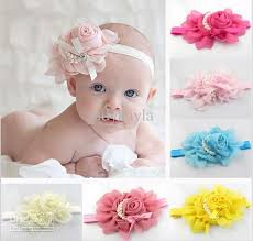 big flower headbands new style beautiful chiffon pearl big flower headband girl baby