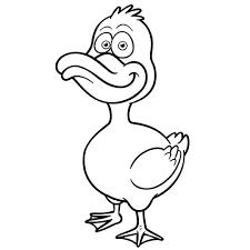 Un canard en coloriage à imprimer  Magicmamancom