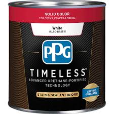 Exterior White Wood Paint - ppg timeless 8 oz tsc 53 white base 1 solid color exterior wood
