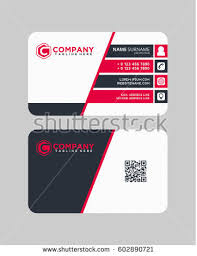 Simple Business Cards Templates Creative Clean Vector Business Card Template Stock Vector