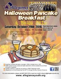Pancake Halloween Costume Pancake Breakfast U0026 Bake Sale Fundraiser Allegiance Color Guard