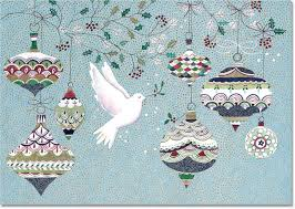 dove and ornaments small boxed cards cards