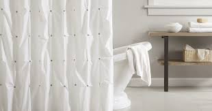 No Liner Shower Curtain White Cotton Shower Curtain Curtain Gallery Images