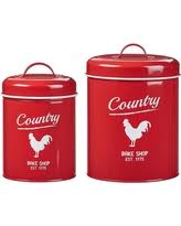 Red Glass Kitchen Canisters by Now Summer Sales On Country Kitchen Canisters