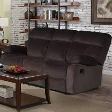 furniture grey recliner living spaces with brown carpet and glass