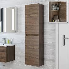 recessed bathroom storage cabinet recessed bathroom storage cabinet best of 1400mm walnut tall wall