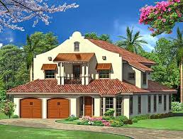 Mission House Plans Mission Style In Two Versions 36347tx Architectural Designs