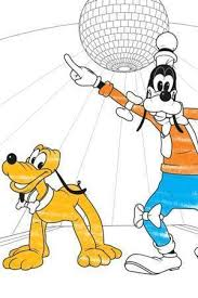 goofy pluto colouring disney junior uk