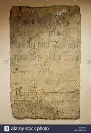 tombstone of mary ward 1585 1645 mounted in the interior wall