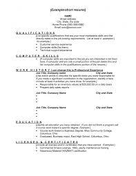 sample resume with skills listed resume computer skills list