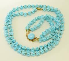 blue glass necklace vintage images Vintage french louis rousselet baby blue glass necklace bracelet set jpg