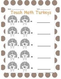 this is a set of 8 touch math worksheets that contain double