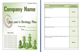 Strategic Planning Template Excel Business Strategic Plan Template Strategic Business Plan Template