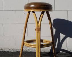 vintage rattan bar stool with back kitchen bar stools rustic