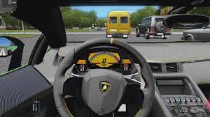 city car driving lamborghini city car driving lamborghini aventador sv city drive