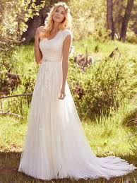 modest wedding dress in aline shape for lds wedding lace and