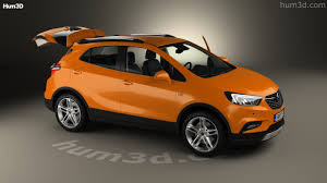 opel orange 360 view of opel mokka x with hq interior 2017 3d model hum3d store