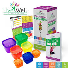 amazon com portion control containers 7 pieces multi colored with