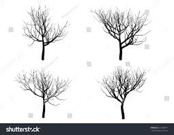 halloween tree silhouette isolated on white stock vector 213785971