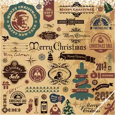 christmas labels u0026 design elements 13 free vector graphic download