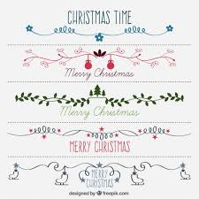 Decoration Christmas Vector by Hand Drawn Beautiful Decorative Christmas Borders Vector Free