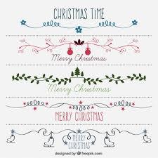 hand drawn beautiful decorative christmas borders vector free