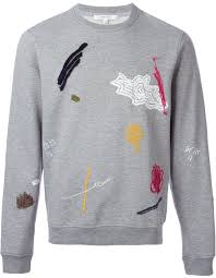 carven embroidered scribble sweatshirt where to buy u0026 how to wear